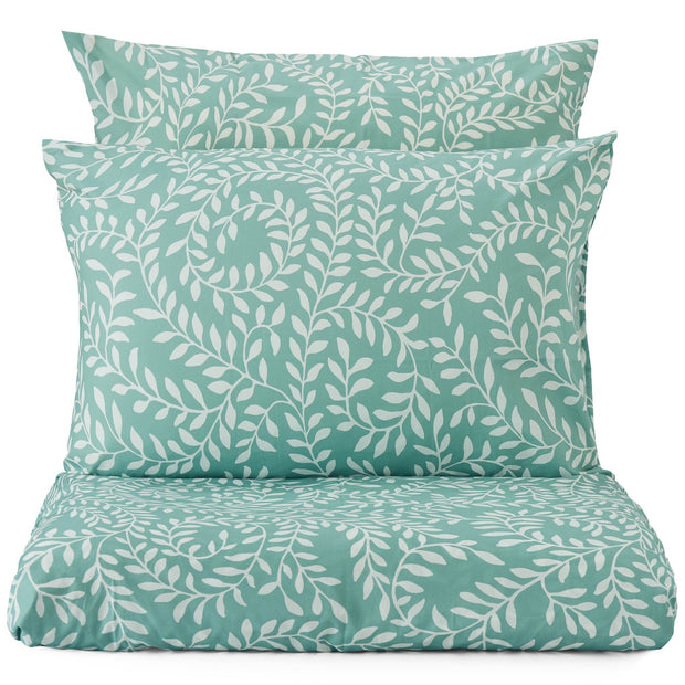 Aneto duvet cover, green grey & white, 100% cotton