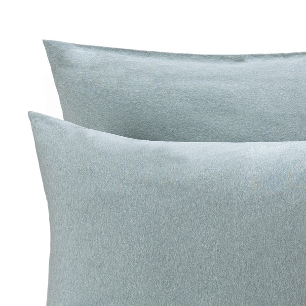 Sabugal pillowcase in emerald melange, 100% cotton |Find the perfect jersey bedding