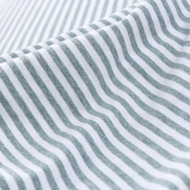 Ourique pillowcase, emerald melange & white, 100% cotton |High quality homewares