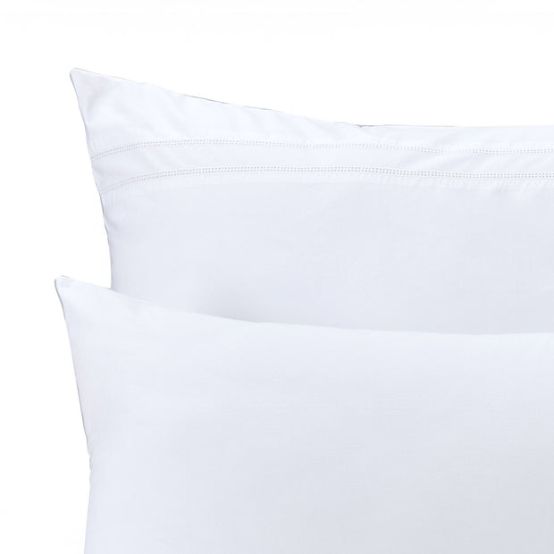 Braga pillowcase, white, 100% cotton | URBANARA percale bedding