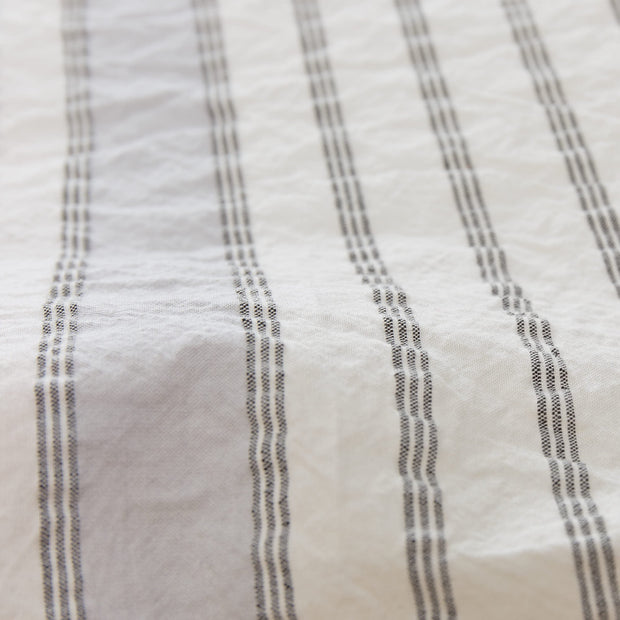 Minho duvet cover, natural white & grey & black, 93% cotton & 7% linen |High quality homewares