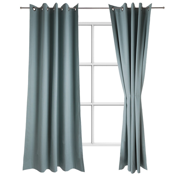 Ruyang curtain, grey green, 55% linen & 45% cotton