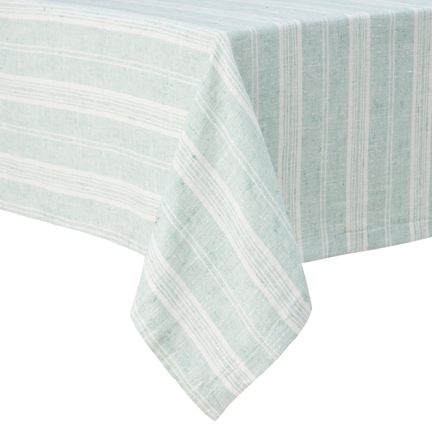 Lusis table cloth, mint & white, 100% linen