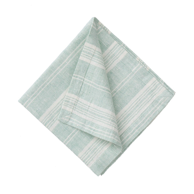 Lusis table runner, mint & white, 100% linen |High quality homewares