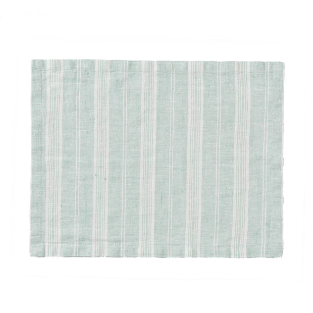 Lusis table runner in mint & white, 100% linen |Find the perfect table runners