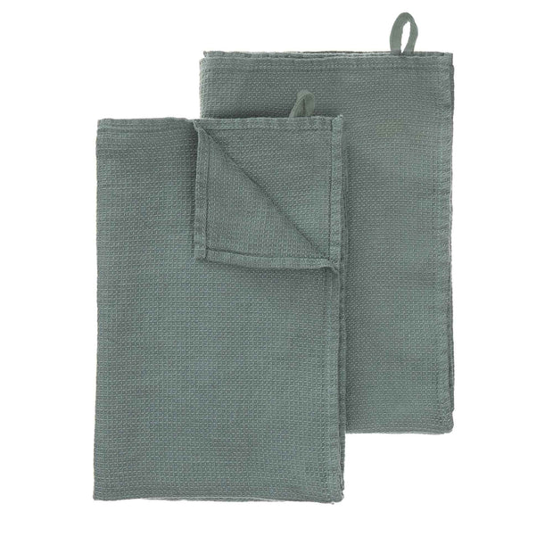 Minija tea towel, green grey, 100% linen