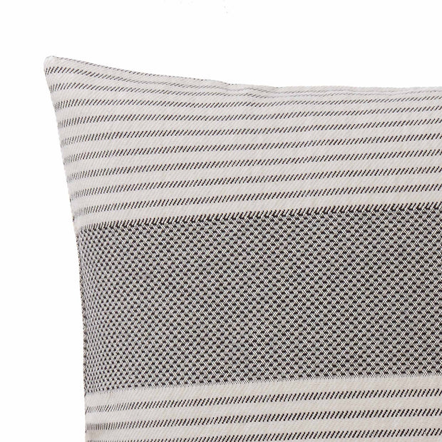 Kadan cushion cover, black & cream, 50% linen & 50% cotton |High quality homewares
