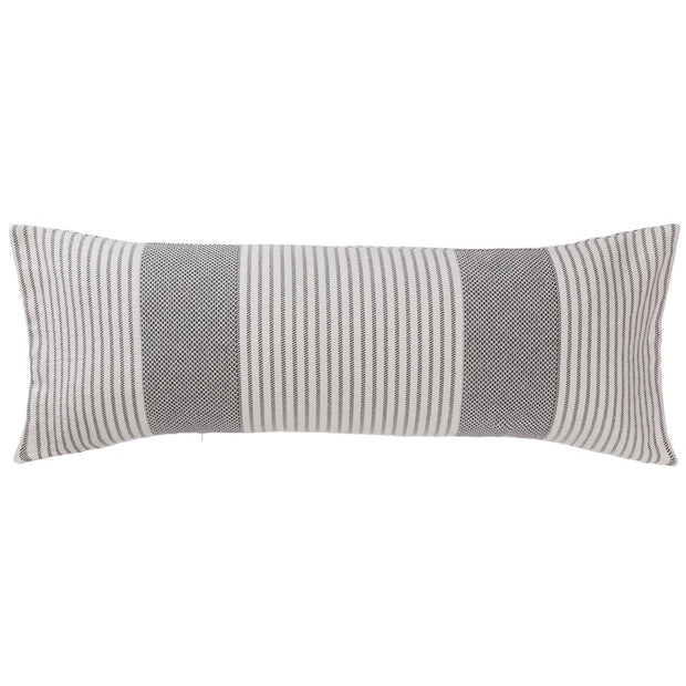 Kadan cushion cover, black & cream, 50% linen & 50% cotton