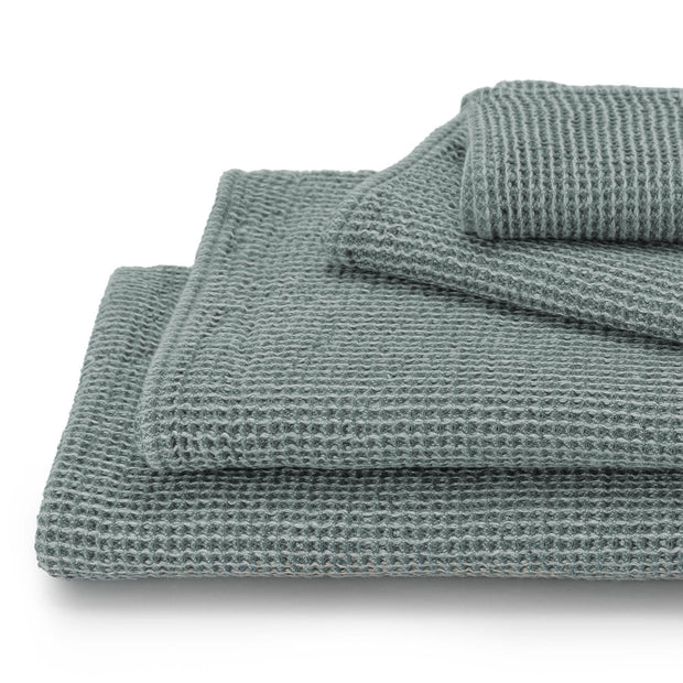 Kotra Towel Collection grey green & natural, 50% linen & 50% cotton | High quality homewares