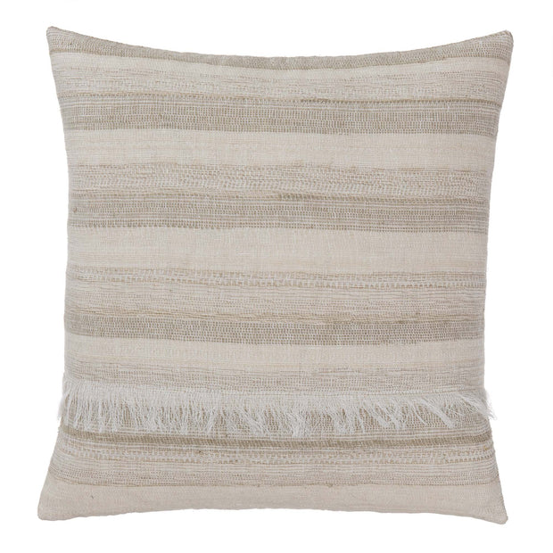 Bundi blanket, clay & cream, 60% linen & 40% silk |High quality homewares