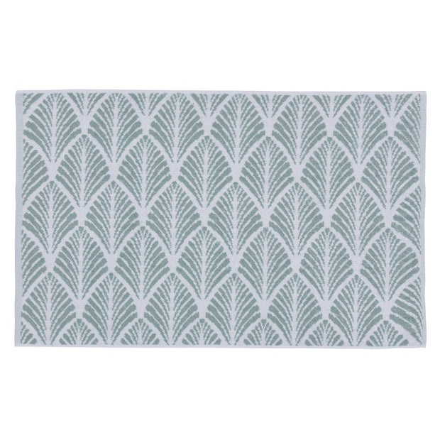 Coimbra bath mat, light grey green & white, 100% organic cotton