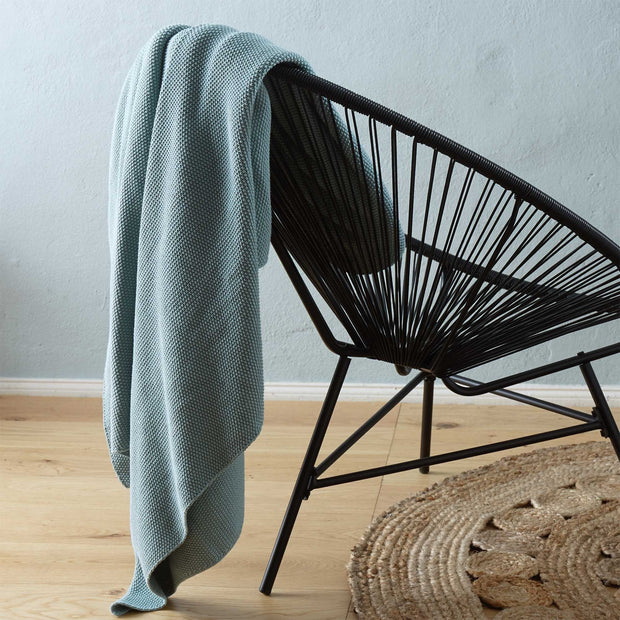 Antua Cotton Blanket in green grey | Home & Living inspiration | URBANARA