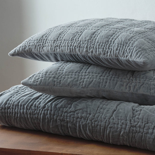 Samana bedspread, green grey, 100% cotton |High quality homewares