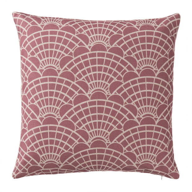 Lune cushion cover, dusty pink & natural, 100% linen