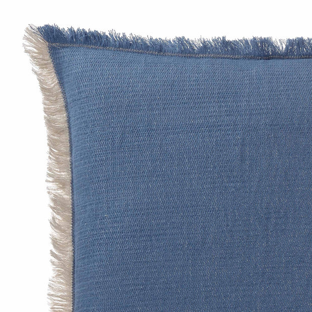 Alkas cushion cover, denim blue & stone grey, 50% cotton & 50% linen | URBANARA cushion covers