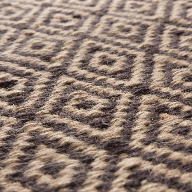 Dasheri rug, charcoal & natural, 100% jute |High quality homewares
