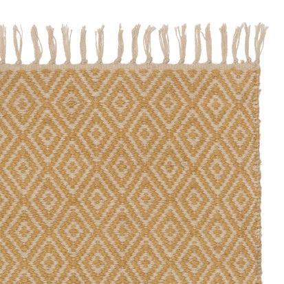 Dasheri Runner mustard & cream, 100% jute