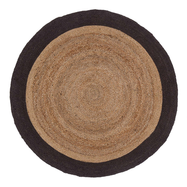 Nandi rug, natural & charcoal, 100% jute |High quality homewares