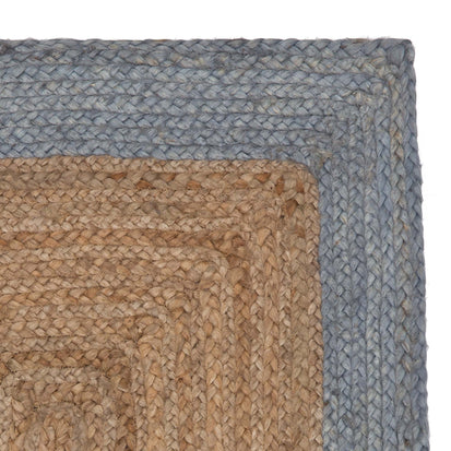 Nandi runner, natural & light grey blue, 100% jute