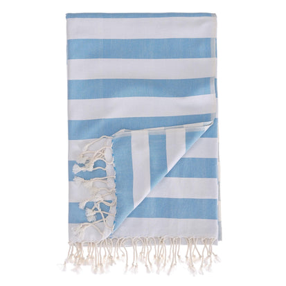 Filiz hammam towel, light blue & white, 100% cotton
