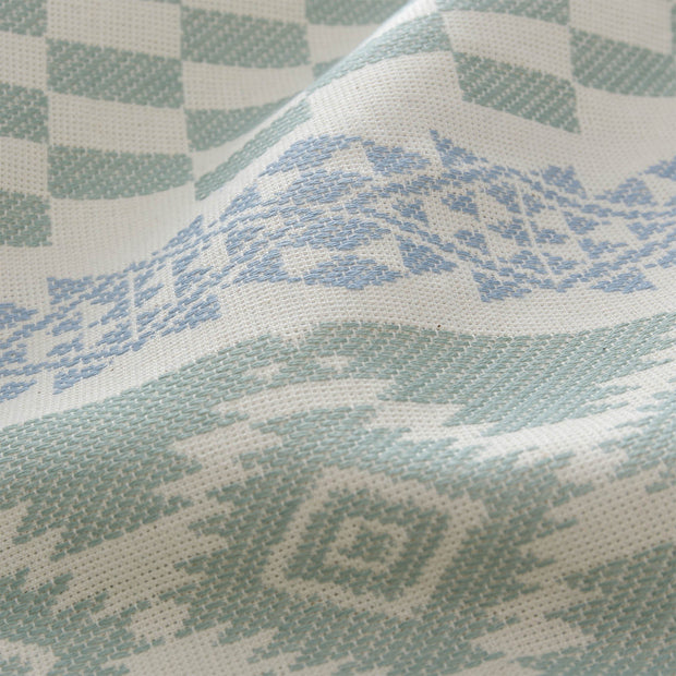Gilao beach towel, natural white & light grey green & light grey blue, 100% cotton |High quality homewares