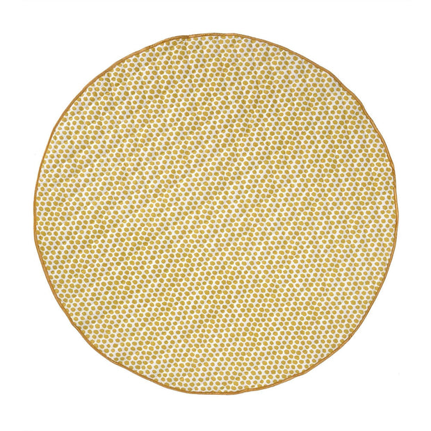 Luo picnic blanket, mustard & natural white & black, 50% cotton & 50% polyester |High quality homewares