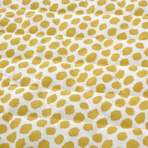 Luo picnic blanket in mustard & natural white & black, 50% cotton & 50% polyester |Find the perfect picnic blankets