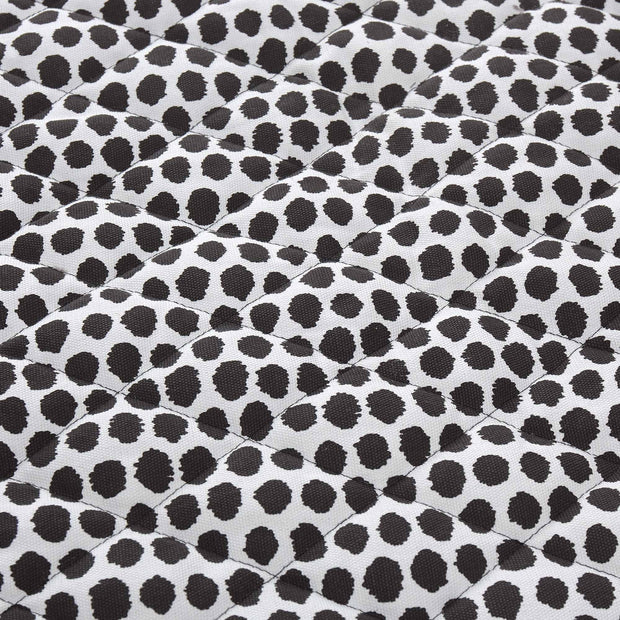 Luo picnic blanket, black & natural white & black, 50% cotton & 50% polyester |High quality homewares