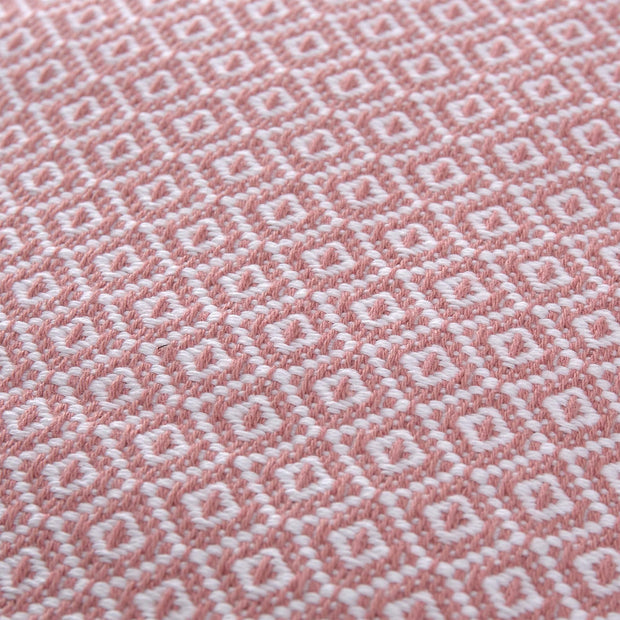 Mondego cushion cover, dusty pink & white, 100% cotton |High quality homewares