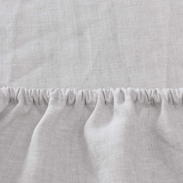 Toulon fitted sheet, natural, 100% linen | URBANARA fitted sheets