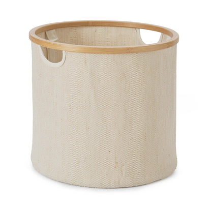 Champa storage, natural & brown, 57% linen & 43% cotton