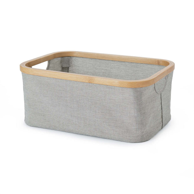 Champa storage in black & white & brown, 75% polyester & 25% cotton |Find the perfect storage baskets