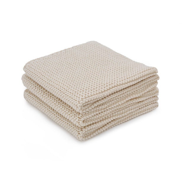 Safara dishcloth, cream, 100% cotton