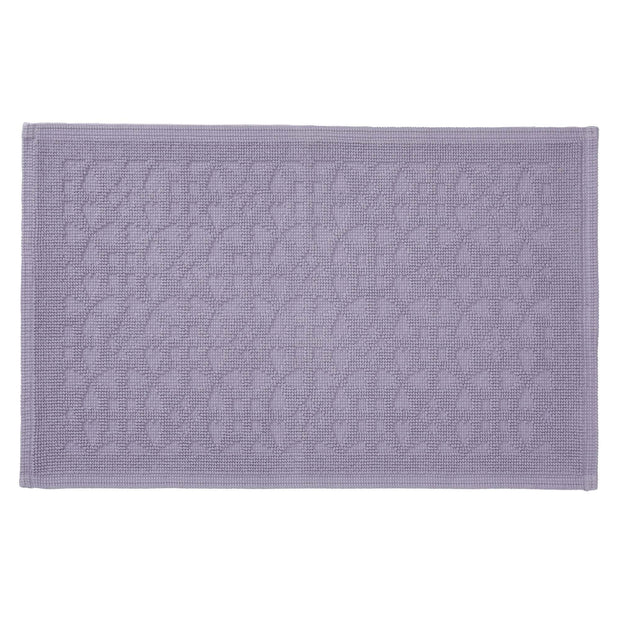 Qasita bath mat, light purple grey, 100% cotton