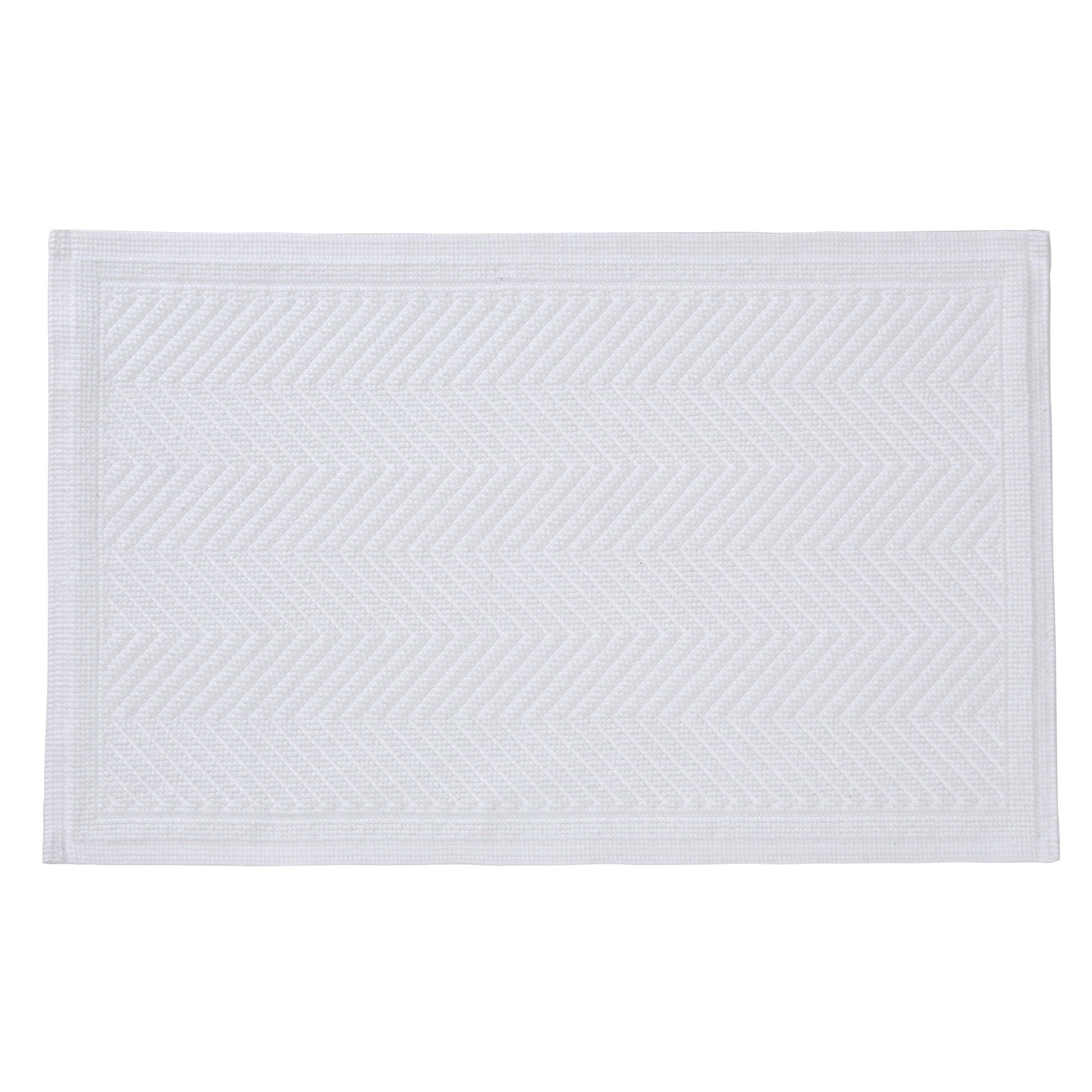 Tajo bath mat, white, 100% cotton