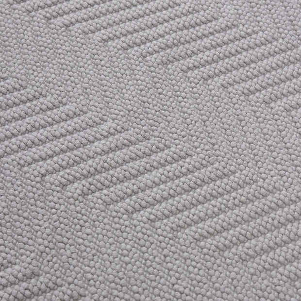 Tajo bath mat, light grey, 100% cotton | URBANARA bath mats