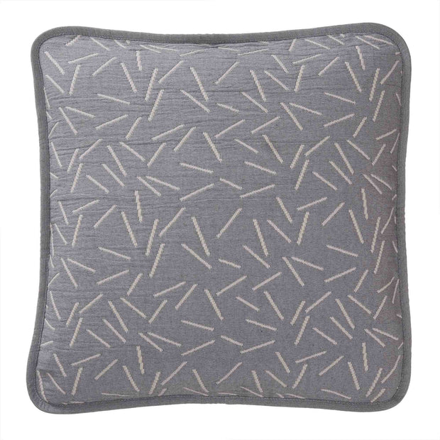 Alcains bedspread, grey & sand, 80% cotton & 20% polyester |High quality homewares