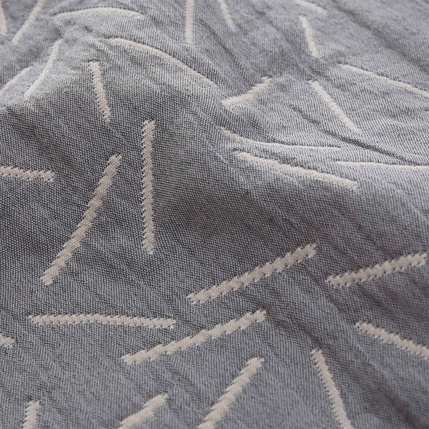 Alcains bedspread, grey & sand, 80% cotton & 20% polyester | URBANARA bedspreads & quilts