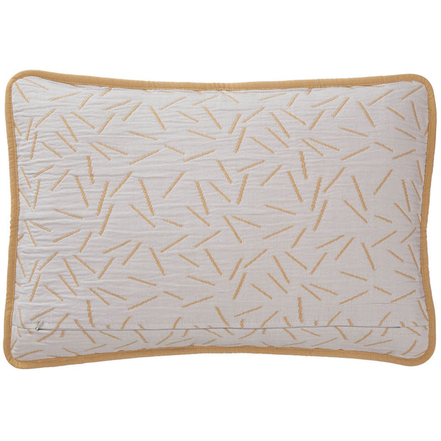 Alcains cushion cover, mustard & light grey, 80% cotton & 20% polyester |High quality homewares