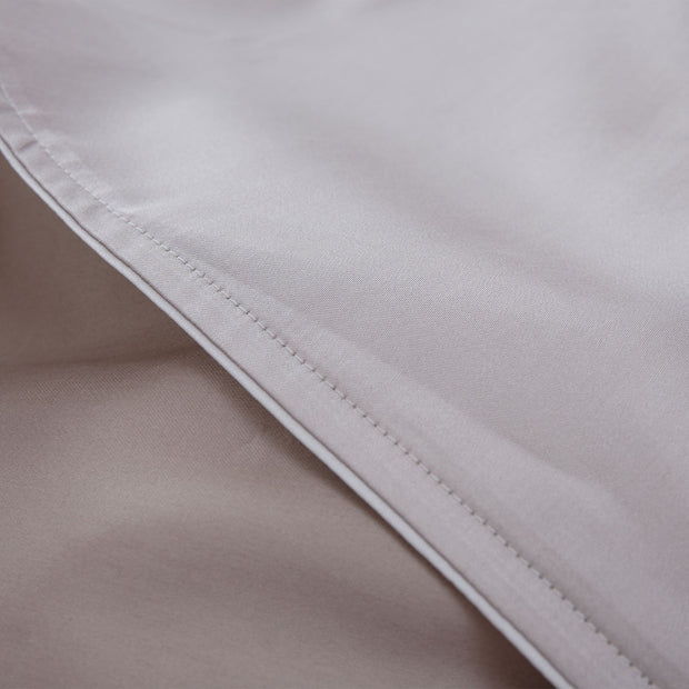 Catania pillowcase, light stone grey & sandstone & light grey, 100% egyptian cotton | URBANARA sateen bedding