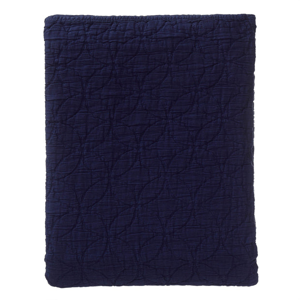 Carvado bedspread, dark blue, 100% cotton