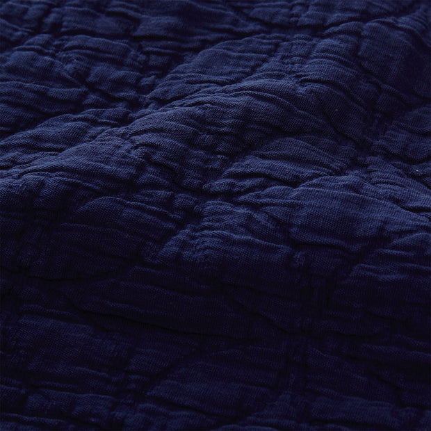 Carvado bedspread, dark blue, 100% cotton | URBANARA bedspreads & quilts