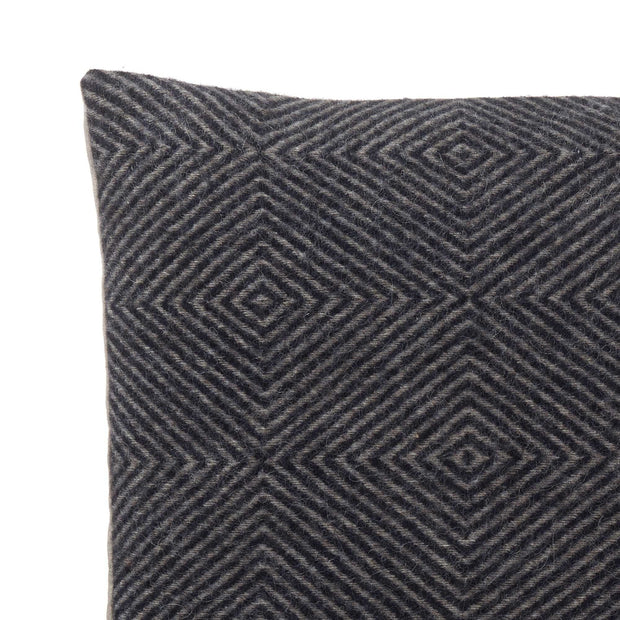 Gotland cushion cover, dark blue & grey, 100% wool & 100% linen | URBANARA cushion covers