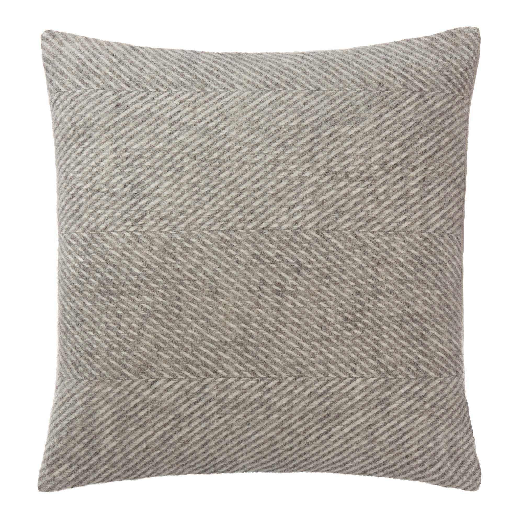Gotland cushion cover, grey & cream, 100% wool & 100% linen