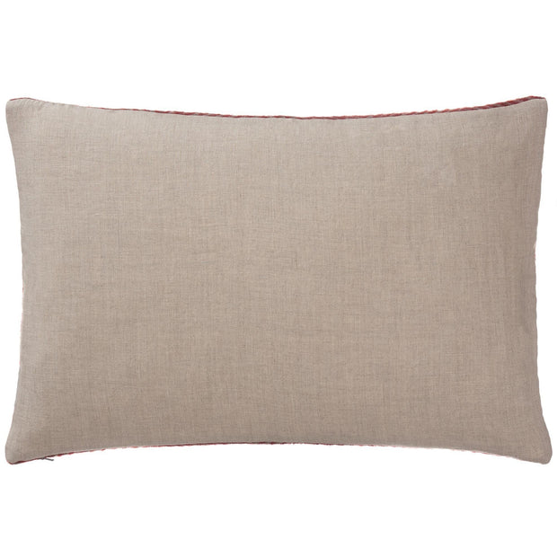 Gotland cushion cover, red & grey, 100% wool & 100% linen |High quality homewares