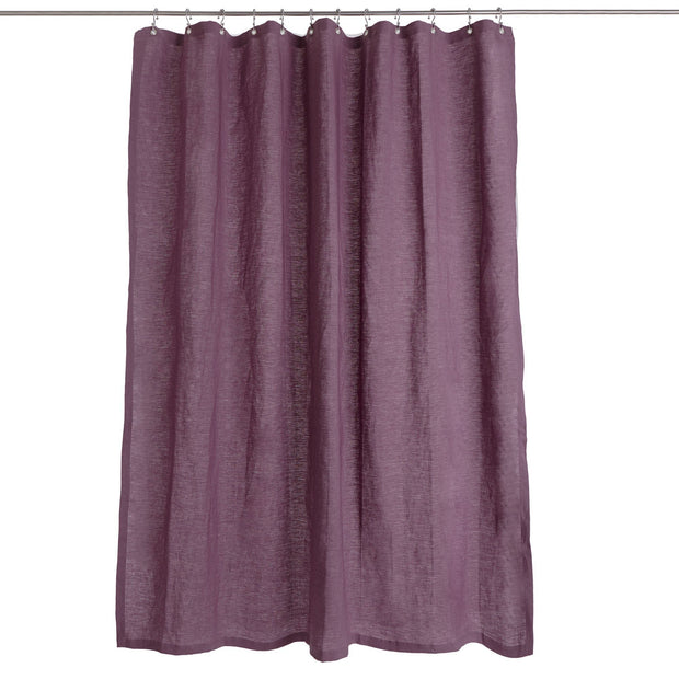 Lagoa shower curtain, aubergine, 100% linen