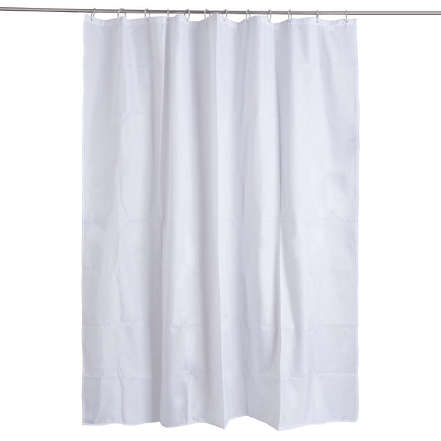 Lohra shower curtain, white, 100% polyester