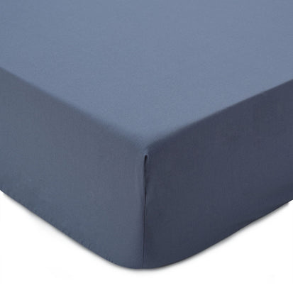Manteigas fitted sheet, dark grey blue, 100% organic cotton