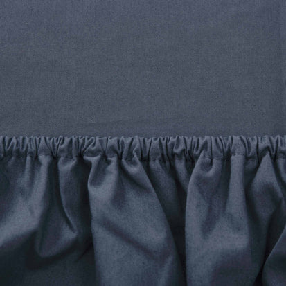 Dark grey blue Manteigas Spannbettlaken | Home & Living inspiration | URBANARA