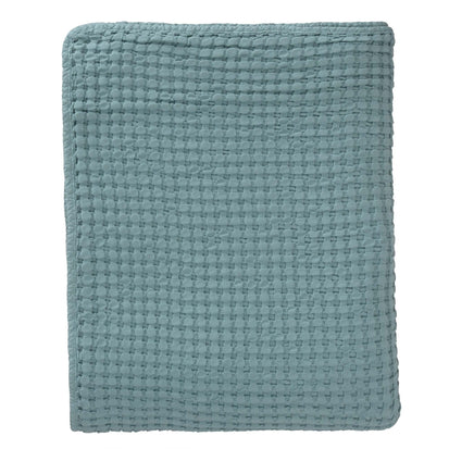 Veiros bedspread, green grey, 100% cotton